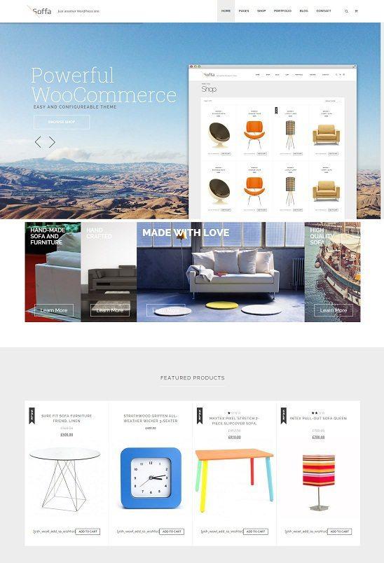 Soffa - Furniture & Bussiness WordPress Theme