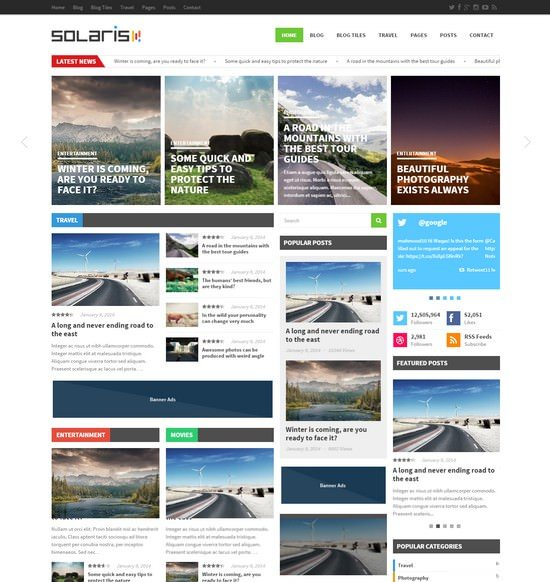 Solaris - Responsive WordPress Magazine Theme