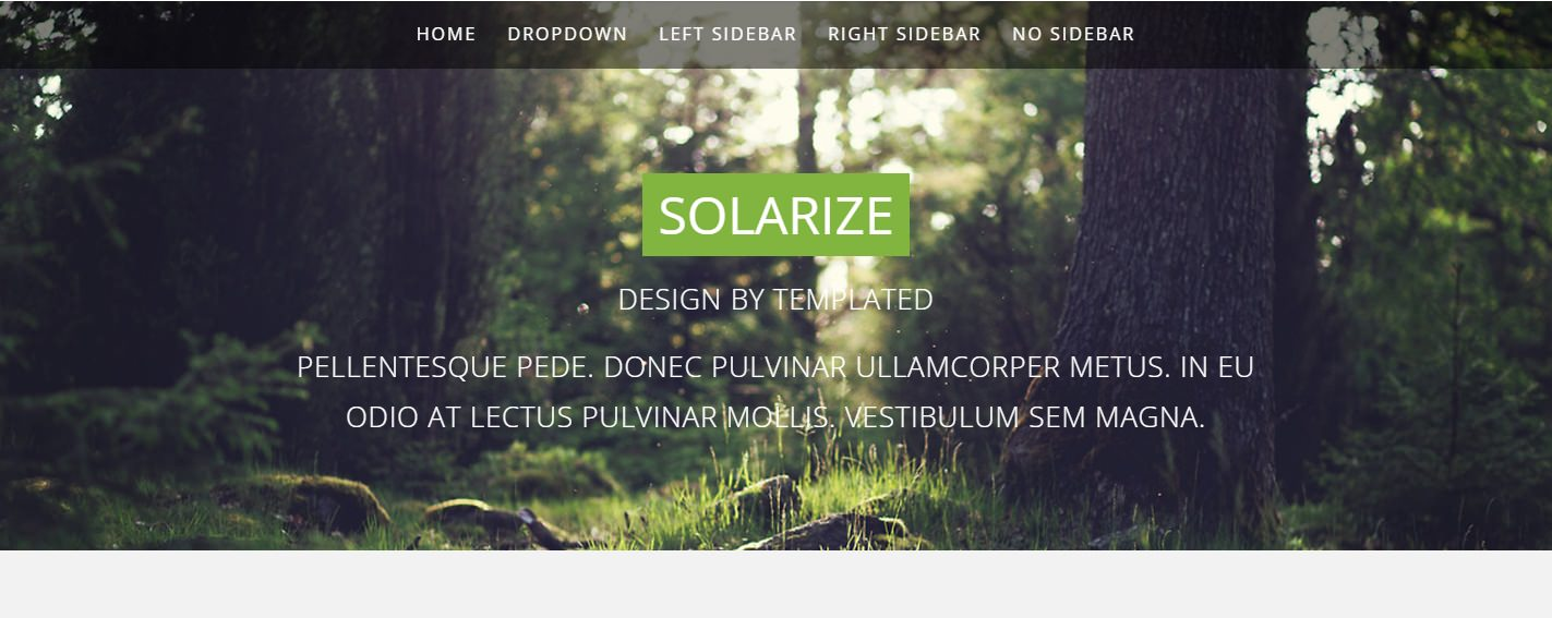 Solarize – Free Responsive HTML5 Template