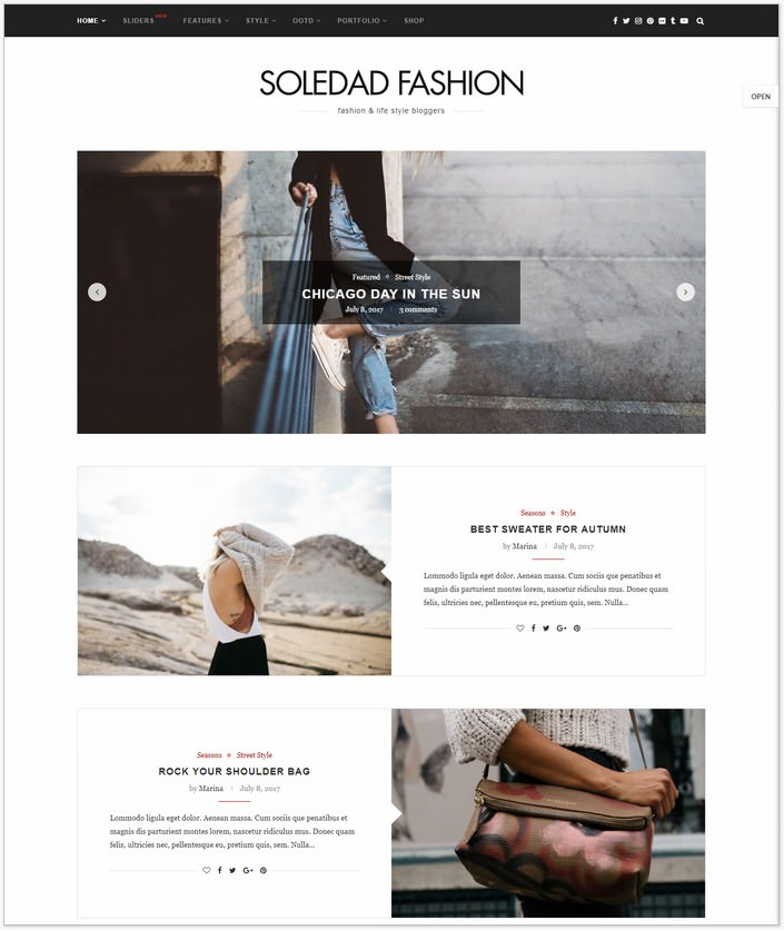 Soledad - Fashion WordPress PHP Theme