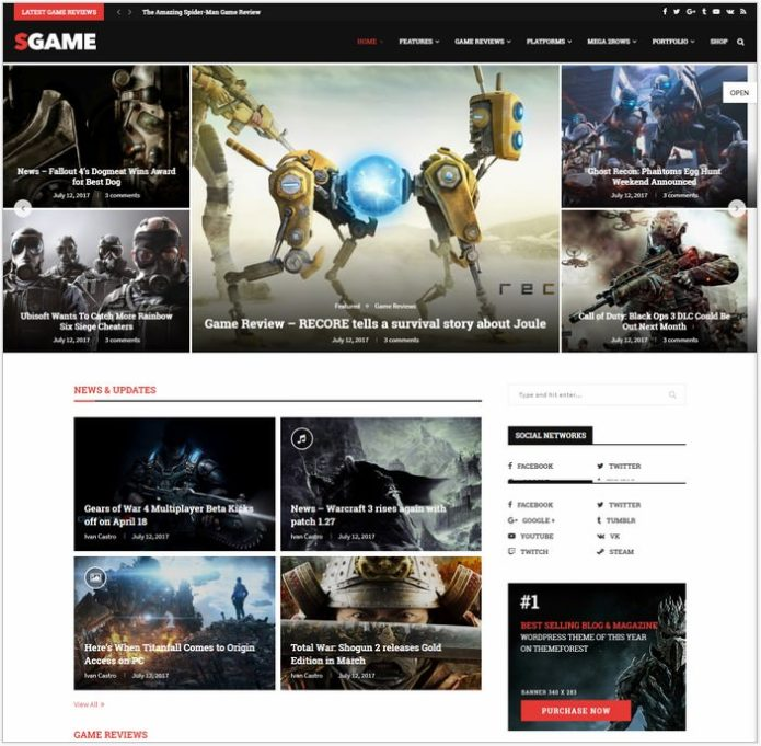 Soledad Game WordPress Theme