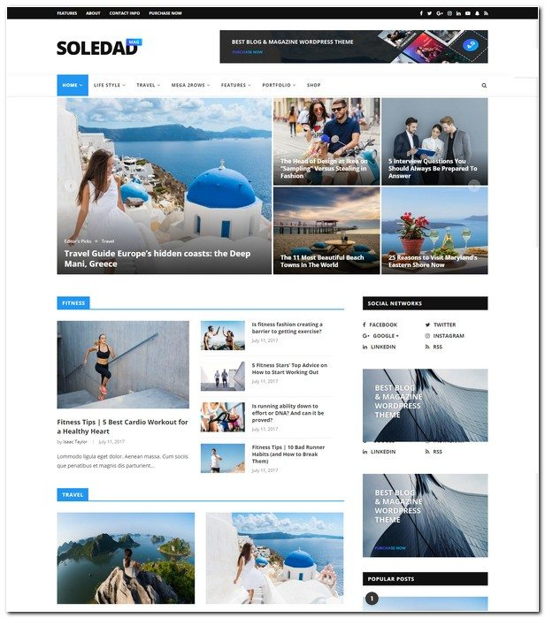 Soledad - Multi-Concept Blog/Magazine AMP WordPress Theme