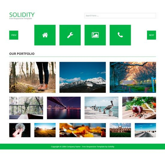 Solidity Free HTML5 Template