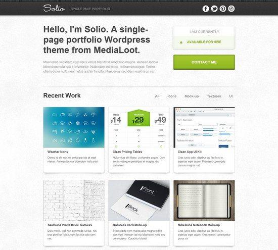 Solio – WordPress Theme