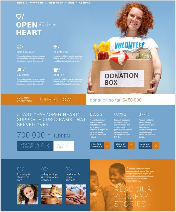 Solution for Charity Sites Joomla Template