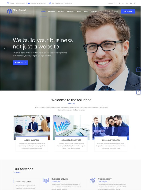 Multipurpose Business, Consulting Services HTML Template
