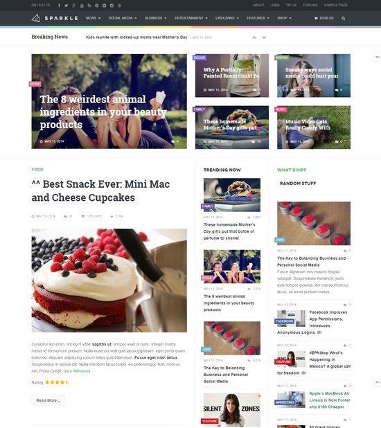 Sparkle - Outstanding Magazine theme for WordPress