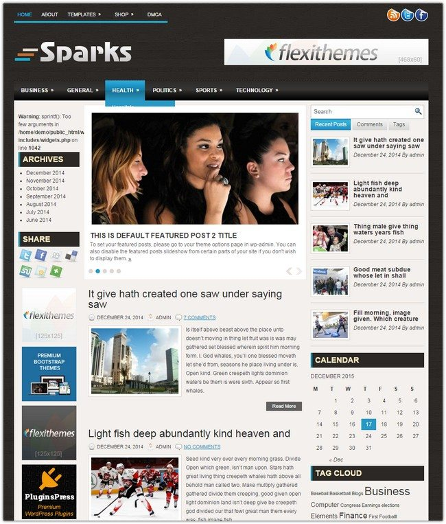 Sparks WordPress Theme