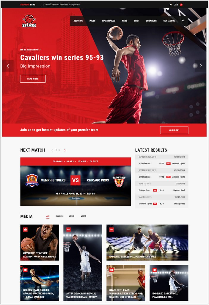 Splash - WordPress Sports Theme