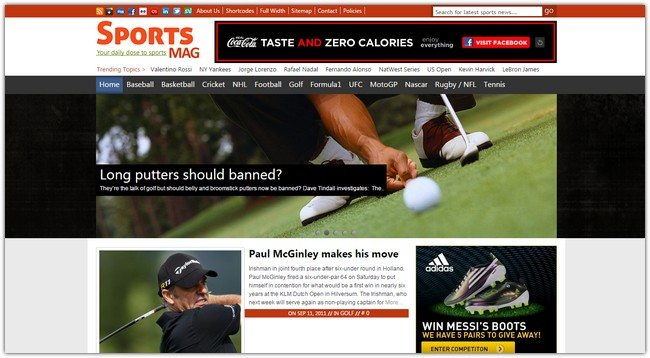 SportsMag WordPress Theme