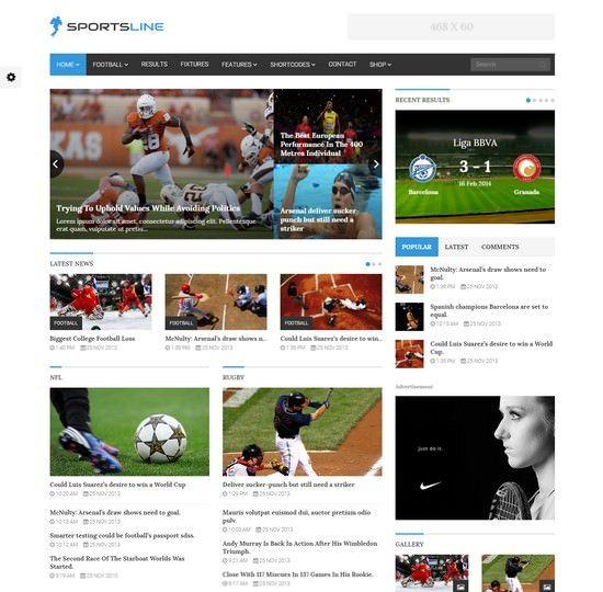 Sportsline - Responsive Sports News Theme