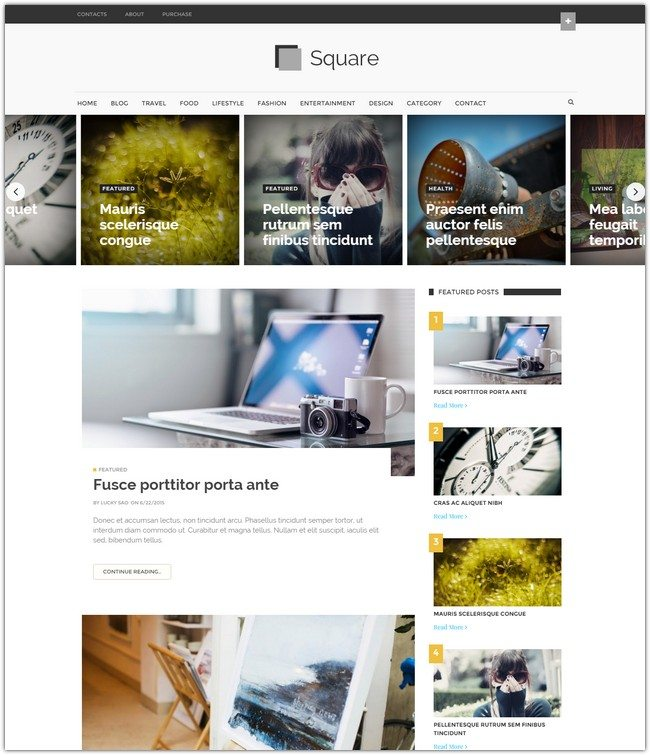 Square Mag Blogger Template