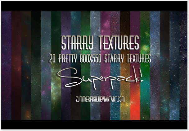 Starry textures x SUPERPACK