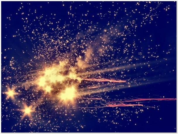 Stars Blue - Orange