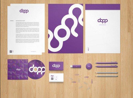 Stationery Branding Mock-Up PSD Free