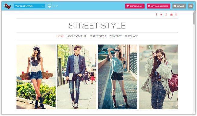 Street Style WordPress Theme