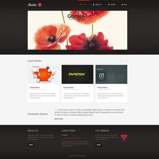 Stuidio Design Studio Responsive Website Template