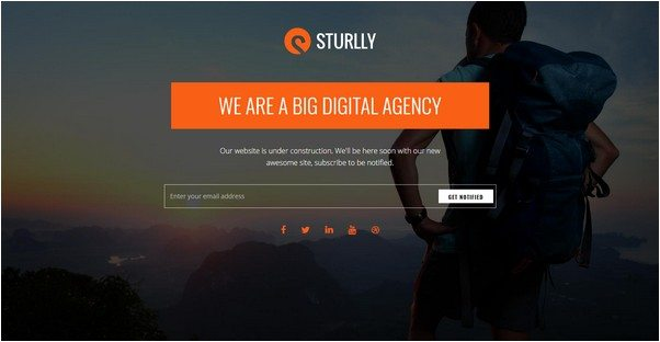 Sturlly Coming soon WordPress Theme