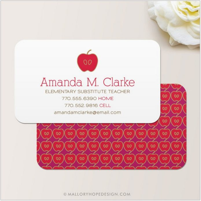 Substitute Teacher Business Card