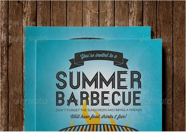 Summer Barbecue Invitation Flyer