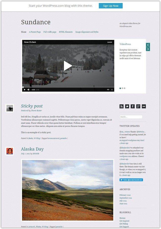 Sundance WordPress Theme