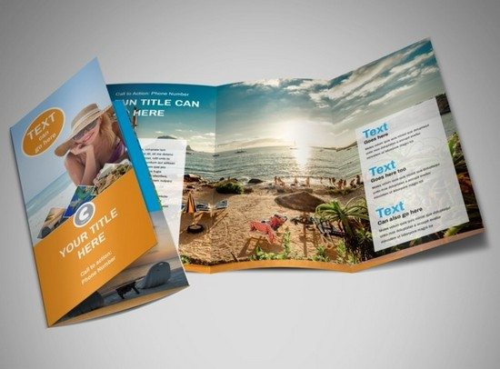 Sunny Travel Tri-Fold Brochure Template
