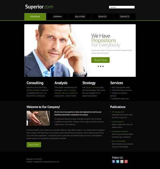 Superior – Free Consulting Website Template