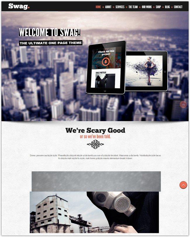 Swag - One Page Parallax WordPress Theme