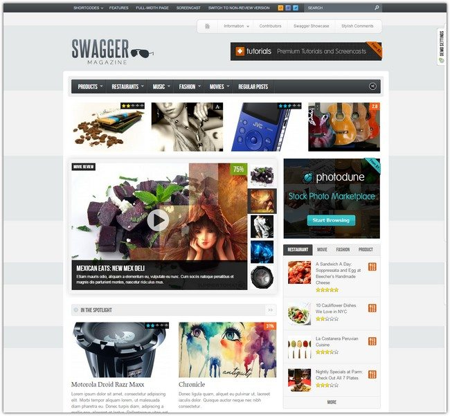 SwagMag - WordPress Magazine Review Theme