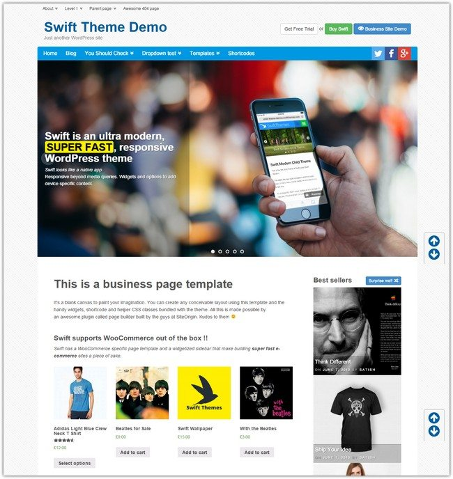Swift v7 WordPress Theme
