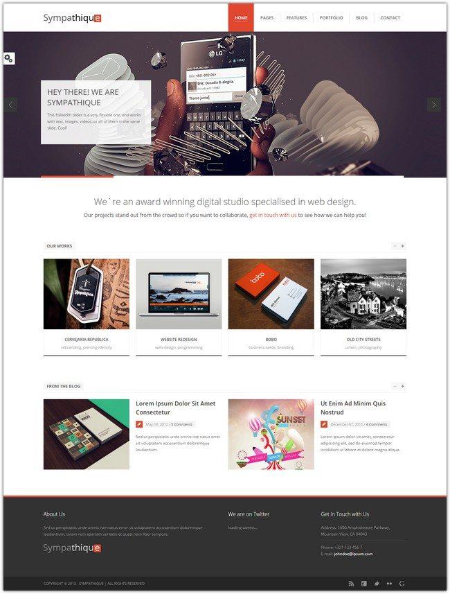 Sympathique - Responsive HTML Template