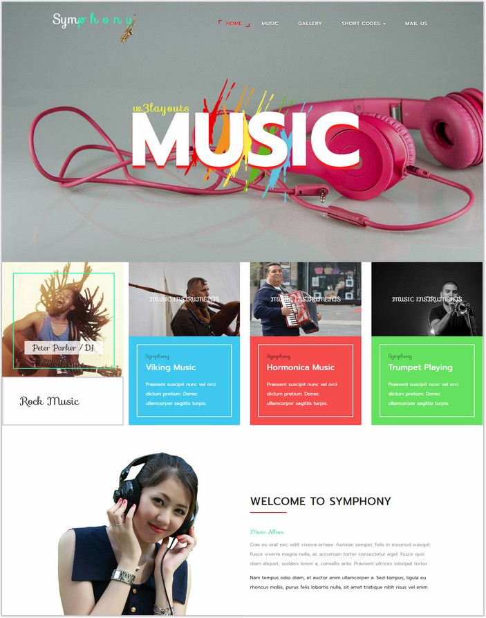 Symphony an Entertainment Web Template