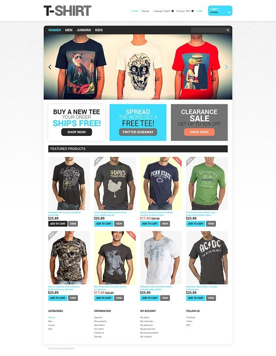 T-Shirts for You PrestaShop Theme