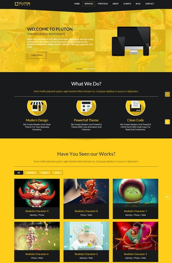 TA Pluton The Best Free One-Page Parallax WordPress Theme