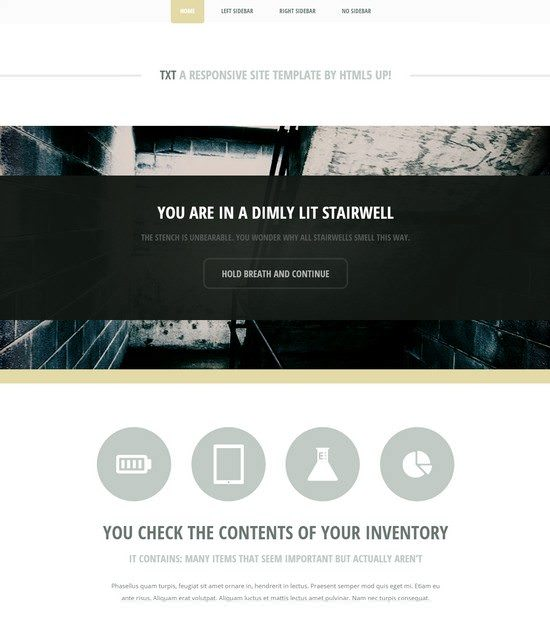 TXT A responsive site template