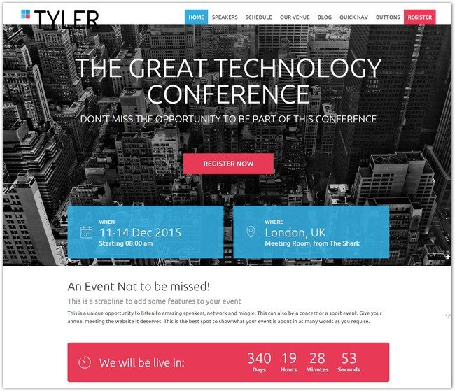 TYLER WordPress Theme