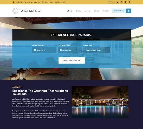 Takamado - Hotel & Resort Theme