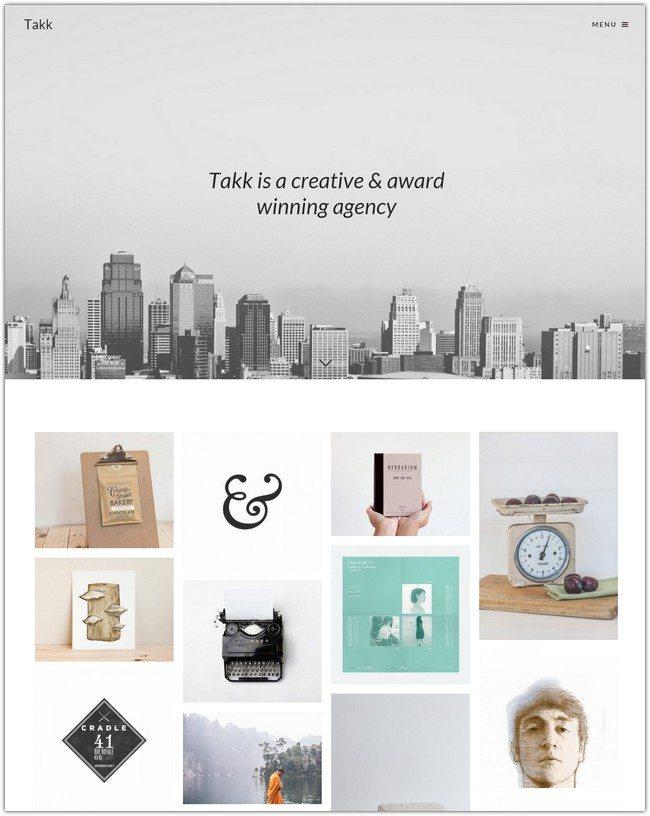 Takk Clean & Responsive WordPress Portfolio Theme