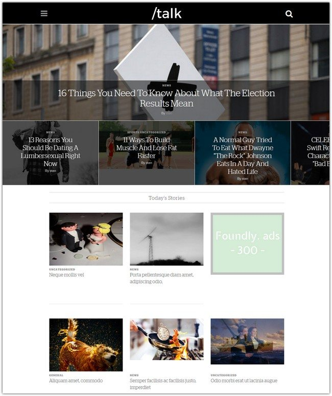 Talk WordPress Theme