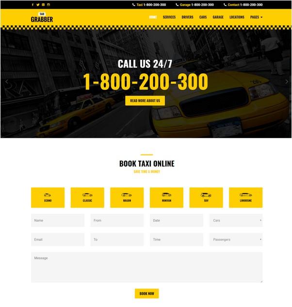 Taxi Grabber HTML Template