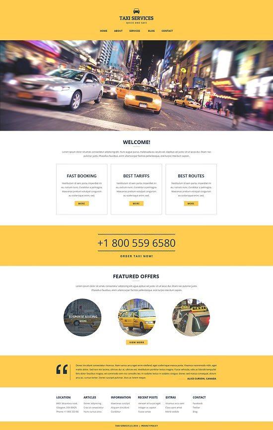 Taxi Responsive Website TemplatS