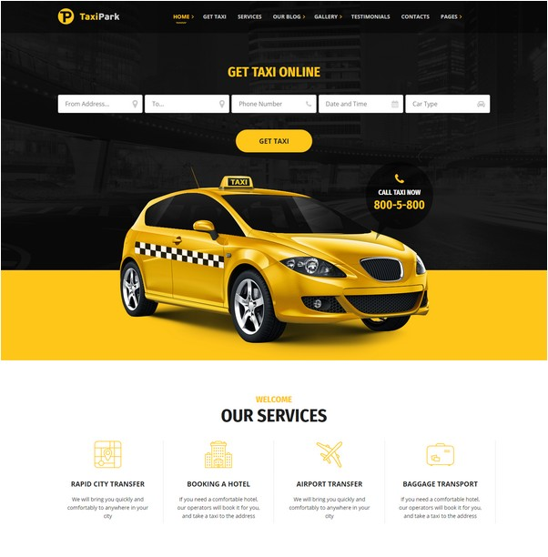 TaxiPark - Taxi Service Company HTML5 Template