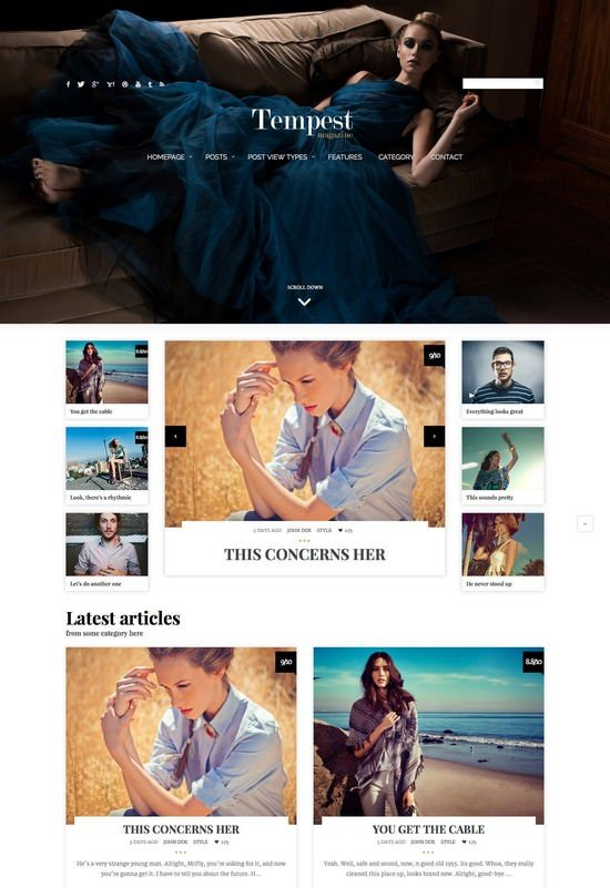 Tempest - Magazine WordPress Theme