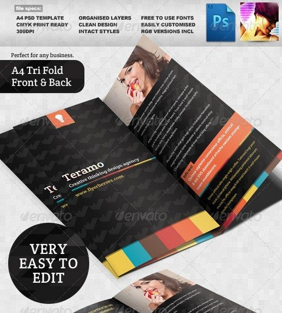 Teramo Tri-fold Brochure Template