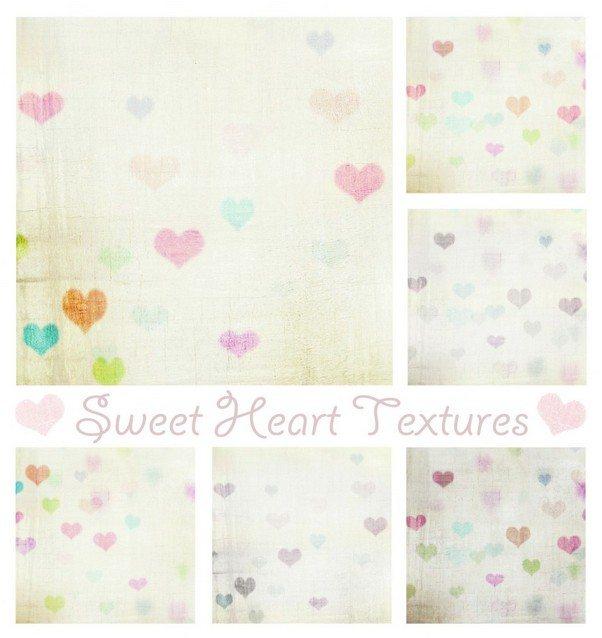Texture Grab Vintage Sweet Heart