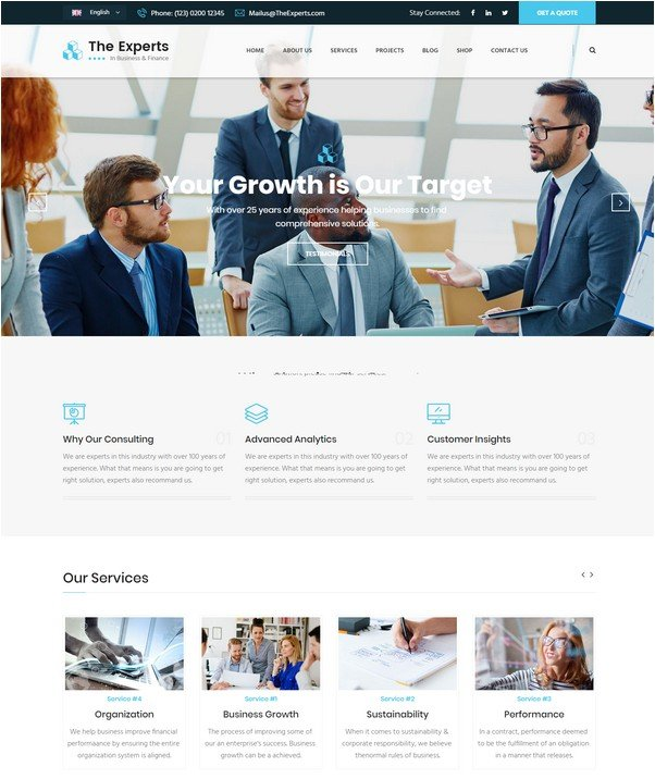 The Experts - Business Consulting and Professional Services HTML Template