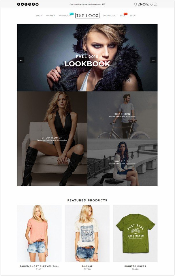 The Look - Clean, Responsive Fashion Prestashop Theme