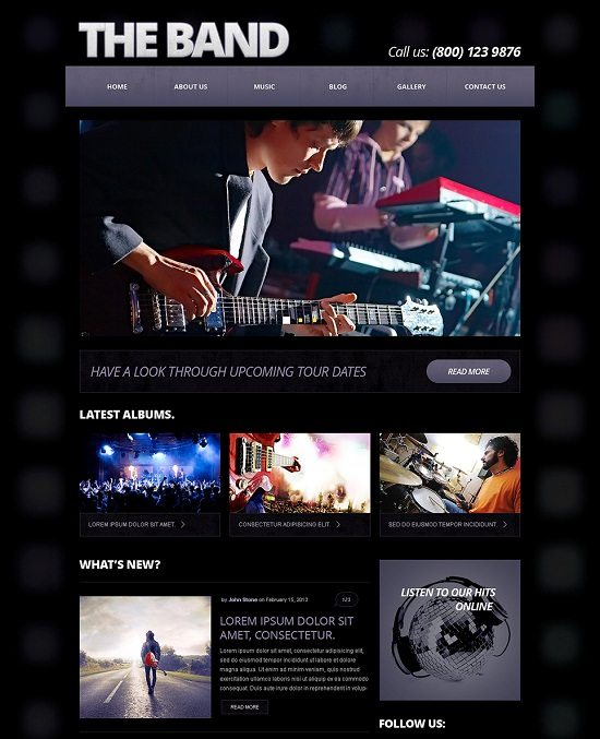 The Music Band Responsive Joomla Template
