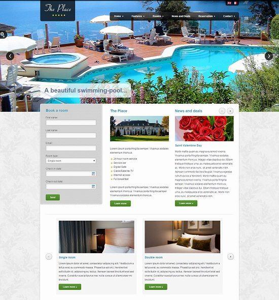 The Place Hotel WordPress Theme