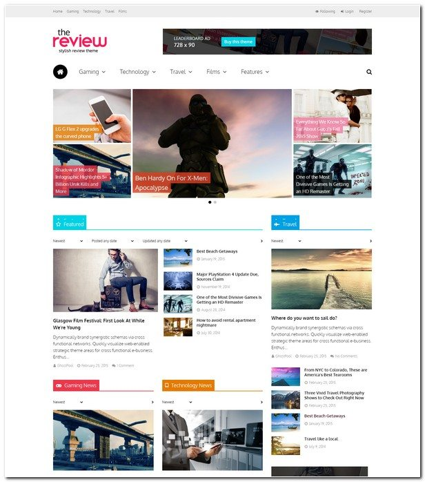 The Review Multi-Purpose Review & Magazine Theme